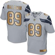 Wholesale Cheap Nike Seahawks #89 Doug Baldwin Grey Alternate Men's Stitched NFL Elite Gold Jersey