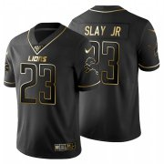 Wholesale Cheap Detroit Lions #23 Darius Slay Jr Men's Nike Black Golden Limited NFL 100 Jersey