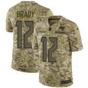 Wholesale Cheap Nike Buccaneers #12 Tom Brady Camo Youth Stitched NFL Limited 2018 Salute To Service Jersey