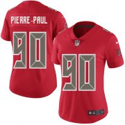 Wholesale Cheap Nike Buccaneers #90 Jason Pierre-Paul Red Women's Stitched NFL Limited Rush Jersey