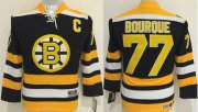 Wholesale Bruins #77 Ray Bourque Black CCM Youth Stitched NHL Jersey