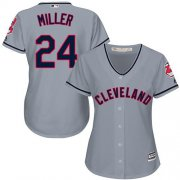 Wholesale Cheap Indians #24 Andrew Miller Grey Women's Road Stitched MLB Jersey