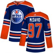 Wholesale Cheap Adidas Oilers #97 Connor McDavid Royal Alternate Authentic Stitched Youth NHL Jersey