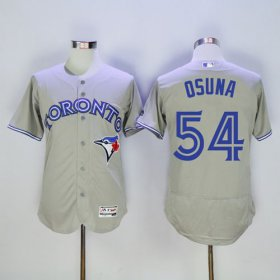 Wholesale Cheap Blue Jays #54 Roberto Osuna Grey Flexbase Authentic Collection Stitched MLB Jersey
