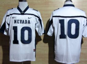 Wholesale Cheap Nevada Wolf Pack #10 Colin Kaepernick White WAC Patch Jersey