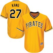 Wholesale Cheap Pirates #27 Jung-ho Kang Gold Cool Base Stitched Youth MLB Jersey