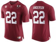 Wholesale Cheap Men's Alabama Crimson Tide #22 Ryan Anderson Red 2017 Championship Game Patch Stitched CFP Nike Limited Jersey