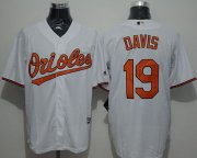 Wholesale Cheap Orioles #19 Chris Davis White New Cool Base Stitched MLB Jersey