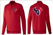 Wholesale Cheap NFL Houston Texans Team Logo Jacket Red_1