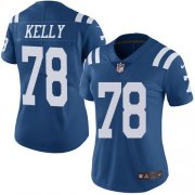 Wholesale Cheap Nike Colts #78 Ryan Kelly Royal Blue Women's Stitched NFL Limited Rush Jersey