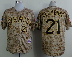 Wholesale Cheap Pirates #21 Roberto Clemente Camo Alternate Cool Base Stitched MLB Jersey