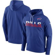 Wholesale Cheap Men's Buffalo Bills Nike Royal Sideline Circuit Pullover Performance Hoodie
