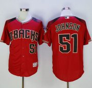 Wholesale Cheap Diamondbacks #51 Randy Johnson Red/Brick New Cool Base Stitched MLB Jersey