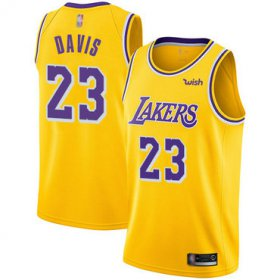 Cheap Youth Lakers #23 Anthony Davis Gold Basketball Swingman Icon Edition Jersey