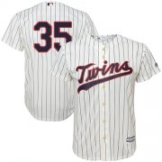Wholesale Cheap Twins #35 Michael Pineda Cream Strip Cool Base Stitched Youth MLB Jersey