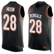 Wholesale Cheap Nike Bengals #28 Joe Mixon Black Team Color Men's Stitched NFL Limited Tank Top Jersey