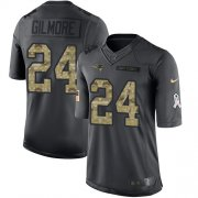 Wholesale Cheap Nike Patriots #24 Stephon Gilmore Black Men's Stitched NFL Limited 2016 Salute To Service Jersey