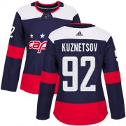 Wholesale Cheap Adidas Capitals #92 Evgeny Kuznetsov Navy Authentic 2018 Stadium Series Women's Stitched NHL Jersey