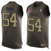 Wholesale Cheap Nike Buccaneers #54 Lavonte David Green Men's Stitched NFL Limited Salute To Service Tank Top Jersey