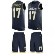 Wholesale Cheap Nike Chargers #17 Philip Rivers Navy Blue Team Color Men's Stitched NFL Limited Tank Top Suit Jersey
