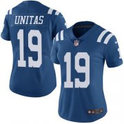 Wholesale Cheap Nike Colts #19 Johnny Unitas Royal Blue Women's Stitched NFL Limited Rush Jersey