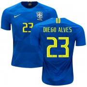 Wholesale Cheap Brazil #23 Diego Alves Away Kid Soccer Country Jersey