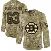 Wholesale Cheap Adidas Bruins #63 Brad Marchand Camo Authentic Stitched NHL Jersey