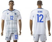 Wholesale Cheap Bosnia Herzegovina #12 Sehic Away Soccer Country Jersey