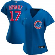 Wholesale Cheap Chicago Cubs #17 Kris Bryant Nike Women's Alternate 2020 MLB Player Jersey Royal
