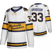 Wholesale Cheap Adidas Predators #33 Viktor Arvidsson White Authentic 2020 Winter Classic Stitched NHL Jersey