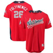 Wholesale Cheap Braves #26 Mike Foltynewicz Red 2018 All-Star National League Stitched MLB Jersey