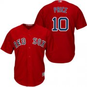 Wholesale Cheap Red Sox #10 David Price Red Cool Base Stitched Youth MLB Jersey
