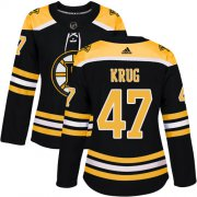 Wholesale Cheap Adidas Bruins #47 Torey Krug Black Home Authentic Women's Stitched NHL Jersey