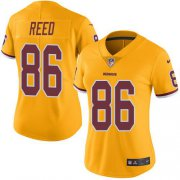 Wholesale Cheap Nike Redskins #86 Jordan Reed Gold Women's Stitched NFL Limited Rush Jersey