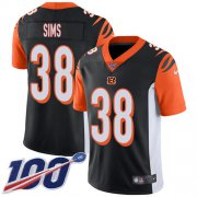Wholesale Cheap Nike Bengals #38 LeShaun Sims Black Team Color Youth Stitched NFL 100th Season Vapor Untouchable Limited Jersey