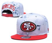 Wholesale Cheap 49ers Team Logo Smoke Red Adjustable Hat TX