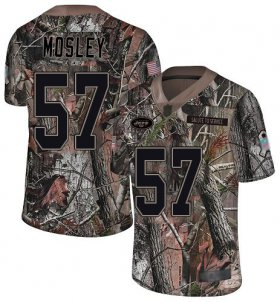 Wholesale Cheap Nike Jets #57 C.J. Mosley Camo Men\'s Stitched NFL Limited Rush Realtree Jersey