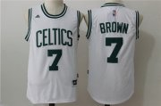 Wholesale Cheap Men's Boston Celtics #7 Jaylen Brown White Stitched NBA adidas Revolution 30 Swingman Jersey
