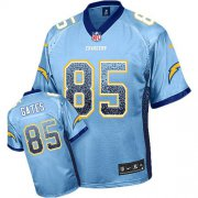 Wholesale Cheap Nike Chargers #85 Antonio Gates Electric Blue Alternate Men's Stitched NFL Elite Drift Fashion Jersey