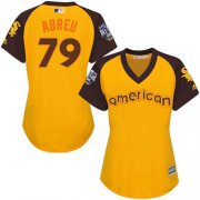 Wholesale Cheap White Sox #79 Jose Abreu Gold 2016 All-Star American League Women's Stitched MLB Jersey