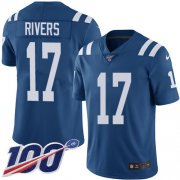 Wholesale Cheap Nike Colts #17 Philip Rivers Royal Blue Youth Stitched NFL Limited Rush 100th Season Jersey