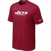 Wholesale Cheap Nike New York Jets Sideline Legend Authentic Font Dri-FIT NFL T-Shirt Red