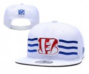 Wholesale Cheap Bengals Team Logo White 2019 Draft Adjustable Hat YD