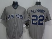 Wholesale Cheap Yankees #22 Jacoby Ellsbury Grey New Cool Base Stitched MLB Jersey