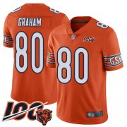 Wholesale Cheap Nike Bears #80 Jimmy Graham Orange Youth Stitched NFL Limited Rush 100th Season Jersey