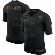 Cheap Pittsburgh Steelers #78 Alejandro Villanueva Nike 2020 Salute To Service Limited Jersey Black