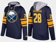 Wholesale Cheap Sabres #28 Zemgus Girgensons Blue Name And Number Hoodie