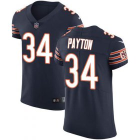 Wholesale Cheap Nike Bears #34 Walter Payton Navy Blue Team Color Men\'s Stitched NFL Vapor Untouchable Elite Jersey