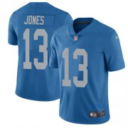 Wholesale Cheap Nike Lions #13 T.J. Jones Blue Throwback Youth Stitched NFL Vapor Untouchable Limited Jersey