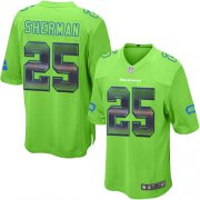 Wholesale Cheap Nike Seahawks #25 Richard Sherman Green Alternate Men's Stitched NFL Limited Strobe Jersey